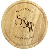Personalised Monogram Round Chopping Board