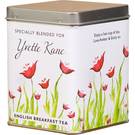 Personalised Poppy Design Tea Caddy