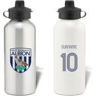 Personalised West Bromwich Albion Retro Shirt Aluminium Sports Water Bottle