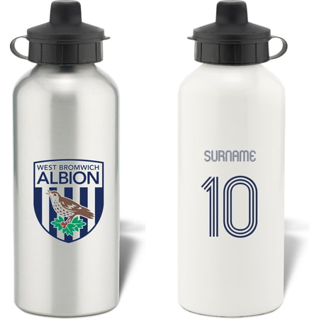 Personalised West Bromwich Albion Retro Shirt Water Bottle