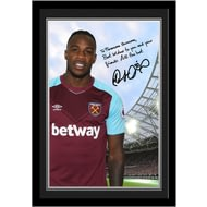 Personalised West Ham United FC Antonio Autograph Photo Framed