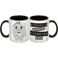 Personalised Black Monster Hangover Ceramic Mug