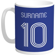 Personalised Everton FC Retro Shirt Mug
