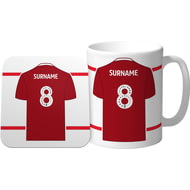 Personalised Nottingham Forest FC Shirt Mug & Coaster Set