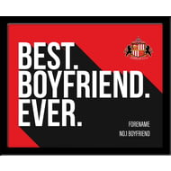 Personalised Sunderland AFC Best Boyfriend Ever 10x8 Photo Framed