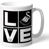 Personalised Swansea City AFC Love Mug