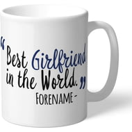 Personalised West Bromwich Albion Best Girlfriend In The World Mug