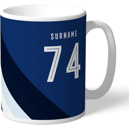Personalised West Bromwich Albion Stripe Mug