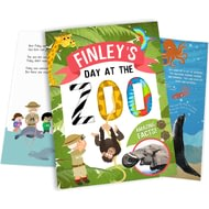 Personalised My Day At The Zoo Childrens Story Book