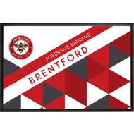 Personalised Brentford FC Patterned Rubber Backed Door Mat