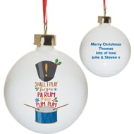 Personalised Little Drummer Boy Christmas Tree Bauble