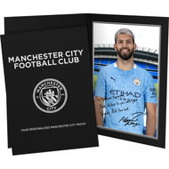 Personalised Manchester City FC Aguero Autograph Photo Folder