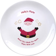 "Personalised Mince Pies For Santa 8"" Bone China Coupe Plate"