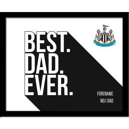 Personalised Newcastle United Best Dad Ever 10x8 Photo Framed