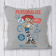 Personalised Toy Story 4 Jessie Vintage Cushion - 45x45cm