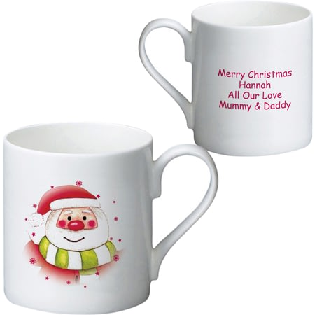 Personalised Santa & Stars Ceramic Mug