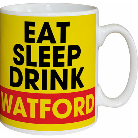 Personalised Watford FC Eat Sleep Drink Mug