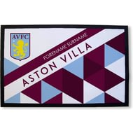 Personalised Aston Villa FC Patterned Rubber Backed Door Mat