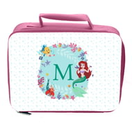 Personalised Disney Princess Ariel Initial Insulated Lunch Bag - Pink