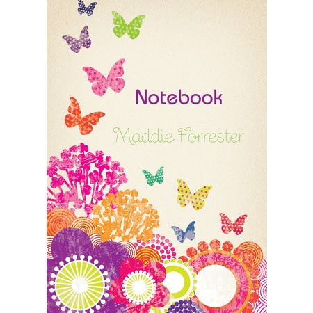 Personalised Flowers And Butterflies Notebook