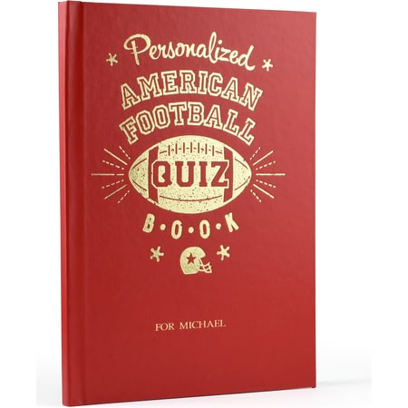 Personalised Personalized American Football Quiz Book