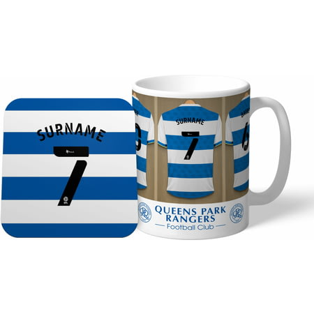 Personalised Queens Park Rangers Dressing Room Shirts Mug & Coaster Set