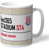 Personalised Stoke City FC Street Sign Mug