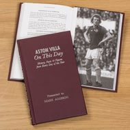 Personalised Aston Villa On This Day Football History Book