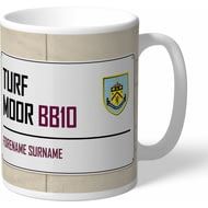 Personalised Burnley FC Turf Moor Street Sign Mug