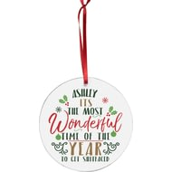 Personalised Most Wonderful Time Of The Year Acrylic Decoration