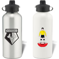 Personalised Watford Player Figure Aluminium Sports Water Bottle