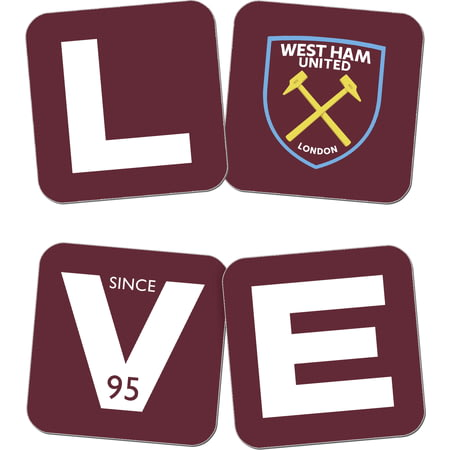 Personalised West Ham United Love Coasters (x4)