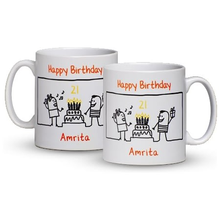 Personalised Birthday Party Time Ceramic Mug
