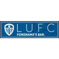 Personalised Leeds United FC Crest Large Rubber Bar Runner
