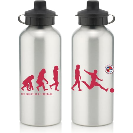 Personalised Reading FC Player Evolution Aluminium Sports Water Bottle