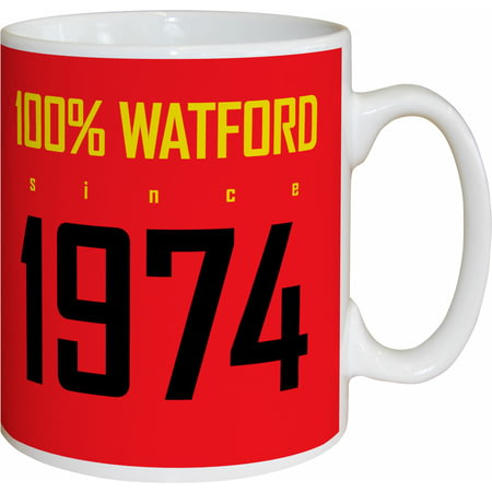 Personalised Watford FC 100 Percent Mug
