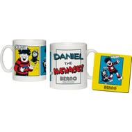 Personalised Beano Classic Comic Strip Water Pistol Ceramic Mug & Coaster