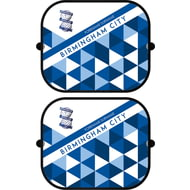 Personalised Birmingham City FC Patterned Pair of Car Sunshades