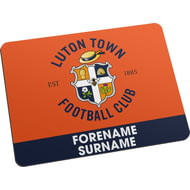 Personalised Luton Town FC Bold Crest Mouse Mat