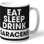 Personalised Saracens Eat Sleep Drink Mug