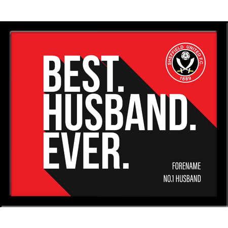 Personalised Sheffield United Best Husband Ever 10x8 Photo Framed