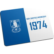 Personalised Sheffield Wednesday FC 100 Percent Mouse Mat