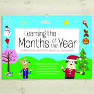 Personalised Childrens Activity Book Learning The Months Of The Year