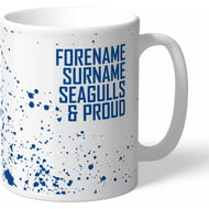 Personalised Brighton & Hove Albion FC Proud Mug