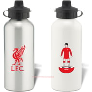 Personalised Liverpool FC Player Figure Aluminium Sports Water Bottle