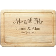 Personalised Mr & Mr Rectangle Wooden Chopping Board