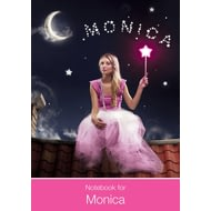 Personalised Pink Fairy Notebook