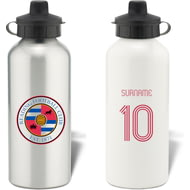 Personalised Reading FC Retro Shirt Aluminium Sports Water Bottle