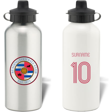 Personalised Reading FC Retro Shirt Water Bottle