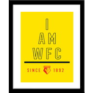 Personalised Watford I Am Framed Print